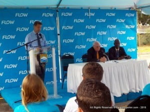 In a press conference marking Flow's commitment to the 26th Olympiad in Rio by providing half a million in support to the Barbados Olympic Association spread over the next five years, General Manager Niall Sheehy fielded queries from the media.