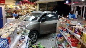 Luckily, no harm to staff nor patrons were experienced. The incident did cause some damage to the convenience store which temporarily suspended operations, and one staff member spoke of what they saw;-