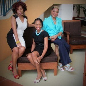 (From left) Entrepreneurs, Deidre Brathwaite, Heather Barker and Denise Mongerie-Rogers have partnered to bring social dining web platform, Isle&Dine to Barbados.