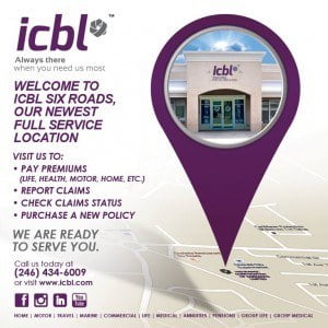 Now you can conduct all of your ICBL business at our Six Roads branch, which is now a full service location. (CLICK FOR BIGGER)