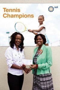 Denise M. Mendes (SOL (BARBADOS) LTD.) presenting to Ms Olwin Walker (Principal)