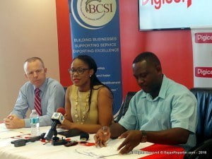 Lisa Cummins, Executive Director of the Barbados Coalition of Service Industries, was part of a media launch held at Digicel's main headquarters in Warrens, she revealed the criteria involved for participation - although there is no age limit, they prefer candidates between 17 to 30; the prospects should be ideally both be code writers and have business acumen...