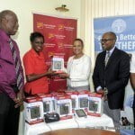 CIBC FirstCaribbean International Bank made a donation to the Heart & Stroke Foundation of Barbados (HSFB) to assist with their home blood pressure drive, which ties in with the vision of having a blood pressure machine in every home.