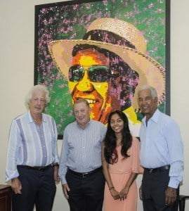 Sir Martyn Arbib, Derrick Smith, Jeena Chatrani & Sir Gary Sobers
