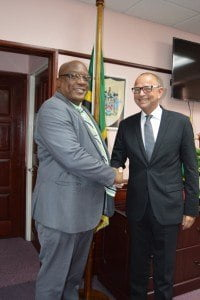 SKN's Prime Minister Harris (left) and His Excellency Jules Bijl (right)