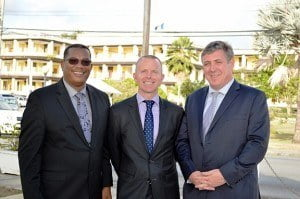 Left to Right – Board member Alex Tasker, Digicel Barbados CEO Conor Looney and Board member Barry O'Brien