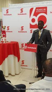 Word of this came from Commerce Minister, Donville Inniss, while addressing the launch of Scotiabank Barbados' 60th Anniversary Celebrations, at its flagship branch on Broad Street, The City.