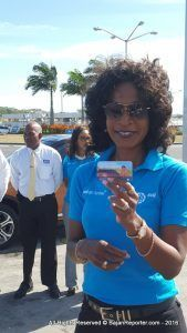Retail Executive at Sol (Barbados) Ltd., Denise Mendes, explained how customers can now move away from the traditional entry form method, and opt to go online and enter the competition using their web entry form cards distributed on spending $40 or more in fuel. She explained that the cards carry a special code to be used online.