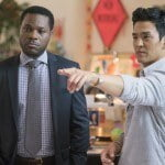 Malcolm-Jamal Warner as Yurgen Celebi and John Cho as Sean in House of Lies (Season 5, Episode 02).- Photo:  Michael Desmond/SHOWTIME - Photo ID:  HouseofLies_502_2259.R