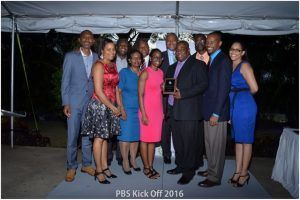 General Manager's Awardee Alan Manning (4th from right) with the PBS Management Team