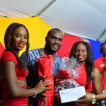 Category Manager Charles Walcott with Barbadian T-20 Champions