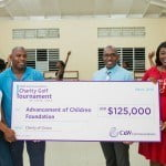 (from left to right) Naeemah Hazelle, Board Chairperson for the Advancement of Children Foundation (ACF); Kevin Edwards, Marketing and Corporate Communications Manager, Flow; David Lake, C&W's Country Manager and Krystal Gardener, ACF Board Member
