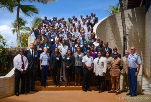 Participants in the fourth annual Multilateral Maritime Interdiction and Prosecution Summit pose for a group photo