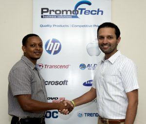Jason Bowen (Promotech Inc. I.C.T. Manager) on the left and Kailash Pardasani (Promotech Inc. C.E.O.) on the right.