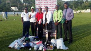 Digicel donated US$2,800 worth of cricket equipment to St Lucia's Women National Cricket Team