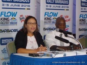 The announcement was made by Shelly Ann Hee Chung, Head of Marketing, Flow Barbados, during a recent press conference hosted by the Barbados Rally Club (BRC) at the Accra Beach Resort.