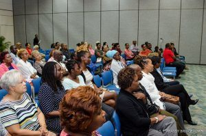 The U.S. Embassy presented the lecture to promote pay parity and equal rights in the workplace. Distinguished guests included Head of Gender Studies at the University of the West Indies, Cave Hill, Charmaine Crawford.