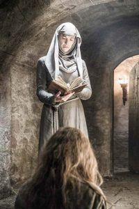 That's great because it leaves you wanting answers to the questions of where does Cersei go next, where does High Sparrow go next? Is she going to have to undergo further degradation and abuses? Is she going to have to have more punishments? Which is what I think is expected; it's not going to end there for her. And also Margaery is in jail. What's going to happen to her? Is she going to have to face the same humiliation? And how does Tommen relate to all this? So it's a great place to begin season six. Of course I finished season five as an actor, not knowing what was going to happen next. Even if it was in the book I wouldn't have known, because I haven't read the books. So that was a very interesting place to be. And then coming to the read through of season six I was looking through and when it finally came to what happens to High Sparrow I just couldn't believe it.