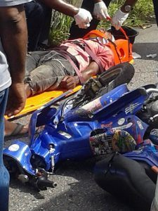 The minibus was driven by Deon Carter of Good Intent, St. George and the motorcycle was driven by Nigel Small, 32 years of Westmoreland, St. James.