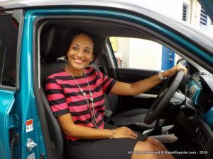 Joia Reece found out late Friday how she was the Grand Prize Winner of a brand new Suzuki Vitara with her name on it! She had thought it was a simple draw, and Joia's father and brother encouraged her to go and see the finale, when in fact the young lawyer was the lucky winner...