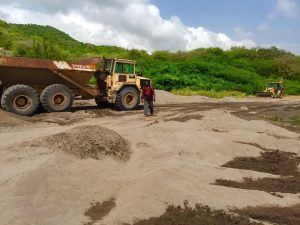 """My information is that the sea sand from Foxes Bay is being mined exclusively by a major funder of PDM and he will be exporting OUR sea sand probably as early as this weekend. This is in contravention to the laws of Montserrat,"" he added."