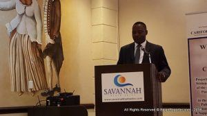 Donville Inniss, Minister of Industry, addressed stakeholders including private sector organisations, professional bodies, sector regulators, public sector owned companies, media and consumer organisations, as well as academia.