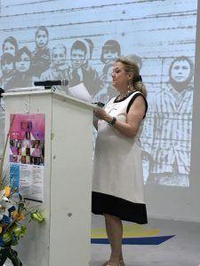 Michela Calderaro, comparative literature professor, University of Trieste, Italy. (HNP photo)