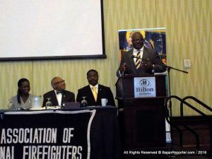 Minister of Home Affairs, Adriel Brathwaite, raised this issue as he addressed the opening ceremony of the 2016 Convention of the International Association of Black Professional Fire Fighters (IABPFF) at Hilton Barbados Resort today. The week-long convention was held under the theme: Still Fighting Fires and Racism.