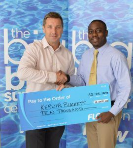 The 39 year-old manager recently collected $10,000 from Barbados' leading telecommunications as the company brought the curtains down on its summer campaign that saw over $50,000 in cash and prizes up for grabs.