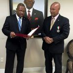 H.E.Tito Mba Ada, Ambassador for Equatorial Guinea to Portugal reads Victor Mooney of Flushing, New York communique at the Permanent Mission for Equatorial Guinea to the United Nations.