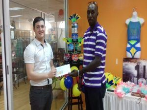 Adam Nemes (left) worked with the Sales & Marketing team and was on hand to assist with the Foreday Morning partnership with Brian Worrell (right) of Colorz Entertainment