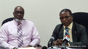 Chief Town Planner, Mark Cummins (left) said the four areas earmarked for desalination by the Ministry of Water Resource Management have been reviewed.