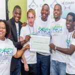 """CoESL's managing director Dr. Marcia Brandon (extreme left) said while she was hoping to get more people coming out to participate in the bootcamp, she was satisfied that the initiative attracted """"quality, even though not the quantity""""."""