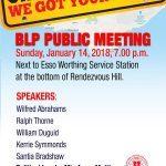 Ch Ch Public Meeting 14 Jan 2018