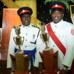 Inspector Ag Roland Cobbler and Sergeant Mitchell Roach after receiving their Awards