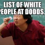 LIST OF WHITE PEOPLE AT DODDS