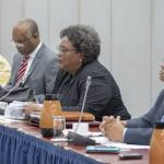 PM Mottley hosts CARICOM MEETING WITH SG 1