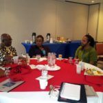 The meeting, held at the Courtyard Marriott, was also attended by BANGO representatives Ms. Fay Best Secretary General, and Interim Committee members Dr. Marcia Brandon, Managing Director, Caribbean Centre of Excellence for Sustainable Livelihoods, and Mr. Ian Douglas, the Chair of the Executive House of Re-Discovery.