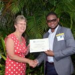 During a special send-off ceremony at her official residence in Barbados, High Commissioner Douglas presented the ten scholars hailing from Barbados, St Lucia, St Vincent and the Grenadines, St Kitts and Nevis, Antigua and Barbuda and Dominica, with their Chevening certificates. She was particularly pleased to see an increase in the total number of scholarships awarded to the Eastern Caribbean this year.