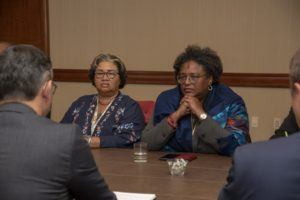 PM Mottley & Dr. St. John at Bilateral Meeting with NZ's Climate Change Minister