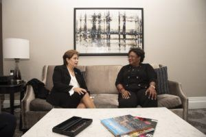 She also met with Executive Secretary of the United Nations Framework Convention on Climate Change, Patricia Espinosa. Also present were PS, Alies Jordan; and Dr. Joy St. John.