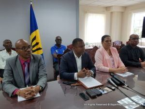 The South Coast Sewerage Crisis is not so much a crisis now as that of a Headache which the Ministry of Water Resources and Energy is seeking to apply a large aspirin by the middle of next month... Flanked by Dr's. Hughvon Sealy and John Mwansa as well as chair of the Water Authority Mrs Leodean Worrell and 49 year BWA veteran engineer Stephen Lindo – Minister of the Portfolio, Wilfred Abrarahmas, invited media for an update on his progress in controlling one of the most deepest challenges the six month old Mia Mottley administration is looking to deliver for Barbadians after Independence and before Christmas. The Minister said the complexity of this project is not only where to place the solutions but answering differing communities to full satisfaction...