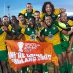 """The Jamaican Rugby League marked their first World Cup qualification with a Facebook post, stating, World History! We are goin' to the World Cup, """"adding the hashtag #CoolRuckings."""