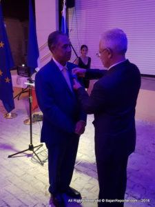 Philippe Ardanaz, France's Ambassador based in St Lucia, addressed members of the Diplomatic Corps, Barbadian Civil Service as well as press and other well wishers at the Barbados Museum for the 50th Anniversary of Diplomatic Relations with Barbados, he also conferred on Captain Don Chee-A-Tow, the Cross of the Knight of the National Order of the Merit.