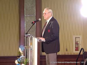 IOC Member Richard 'Dick' Pound spoke at Needhams Point last night in a feature address for the observation of the 50th Anniversary of the Barbados Olympic Association in their 2018 Awards Ceremony.