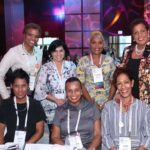 Among the Barbados contingent to the recent IWF Miami conference back row from left are: Carole Eleuthere-JnMarie, Dhisha Moorjani, and Brenda Pope - President of the Barbados IWF chapter. Front row from left are Natalie Abrahams, Dr. Jeannine Comma, and Susan Boyea.