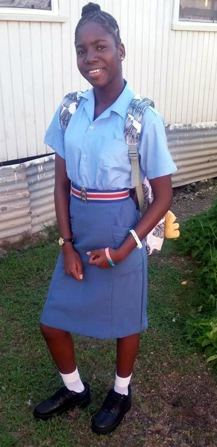 At the time Sade was wearing her School uniform.