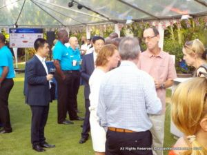 The soiree took place at <strong>Benmar</strong>, Erdiston Road, Pine Hill, St Michael, in the company of the West Indies Cricket Team and other distinguished guests.