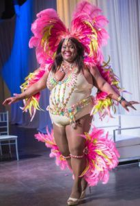 Nadelle has broken ground as pioneer plus-sized model at international Carnival band launches