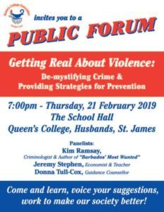 Getting Real About Violence: Kim Ramsay Donna Tull-Cox & Jeremy Stephen 21/02/2019 from 7 pm